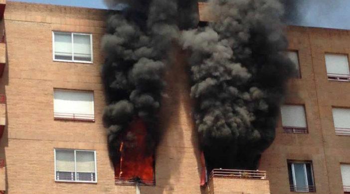 Fuego en un edificio
